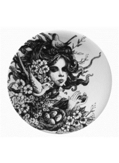 Kütahya Porselen Kadınlarım Serisi 25 cm Servis Tabağı 885179 Renkli